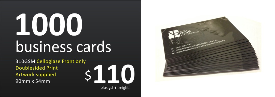 business cards Newcastle Central Coast Hunter